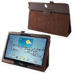 Litchi Texture Leather Case with Holder for Samsung Galaxy Note 10.1 / P600 (2014 Edition), Brown(Brown)