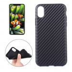 For iPhone 8 Carbon Fiber TPU Shockproof Protective Back Cover Case,Small Quantity Recommended Before iPhone 8 Launching(Black)