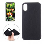For iPhone 8 Litchi Texture TPU Shockproof Protective Back Cover Case,Small Quantity Recommended Before iPhone 8 Launching(Black