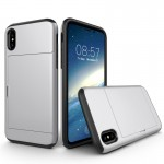 For iPhone 8 TPU + PC Dropproof Protective Back Cover Case with Card Slot, Small Quantity Recommended Before iPhone 8 Launching(