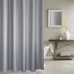 Thickening Waterproof And Mildew Curtain Honeycomb Texture Polyester Cloth Shower Curtain Bathroom Curtains,Size:180*180cm(Grey)