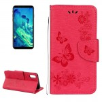 For iPhone 8 Pressed Flowers Butterfly Pattern Horizontal Flip Leather Case with Holder & Card Slots & Wallet & Lanyard, Small Q
