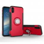 For iPhone 8 Magnetic 360 Degree Rotation Ring Armor Protective Case, Small Quantity Recommended Before iPhone 8 Launching(Red)