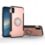 For iPhone 8 Magnetic 360 Degree Rotation Ring Armor Protective Case, Small Quantity Recommended Before iPhone 8 Launching(Rose