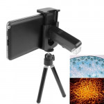 60-100X Zoom Universal Digital Mobile Phone Microscope Magnifier with Tripod / Adjustable Clip & LED Light for Galaxy S IV / i95