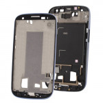 iPartsBuy 2 in 1 for Samsung Galaxy S III / i9300 (Original LCD Middle Board + Original Front Chassis)(Dark Blue)
