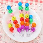 3 PCS Creative Stationery Children Cartoon Candy Colorful Do Not Cut Pencil