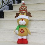 Large Size Standing Style Christmas Home Decoration Elk Doll