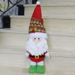 Large Size Standing Style Christmas Home Decoration Santa Claus Doll