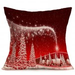Christmas Festival Pattern Car Sofa Pillowcase with Decorative Head Restraints Home Sofa Pillowcase, Q, Size:43*43cm