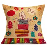 Christmas Festival Pattern Car Sofa Pillowcase with Decorative Head Restraints Home Sofa Pillowcase, N, Size:43*43cm