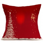 Christmas Festival Pattern Car Sofa Pillowcase with Decorative Head Restraints Home Sofa Pillowcase, E, Size:43*43cm
