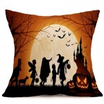 Halloween Decoration Pattern Car Sofa Pillowcase with Decorative Head Restraints Home Sofa Pillowcase, A, Size:43*43cm