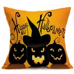 Halloween Decoration Pattern Car Sofa Pillowcase with Decorative Head Restraints Home Sofa Pillowcase, B, Size:43*43cm