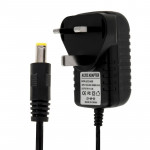 UK Plug AC 100-240V to DC 6V 2A Power Adapter, Tips: 5.5 x 2.1mm, Cable Length: about 1.2m(Black)