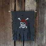 Halloween Décoration Jolly Roger Skull Bannière Pirate Flag Party Supplies, Petite taille: 47 x 51 cm - Wewoo