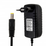 EU Plug AC 100-240V to DC 24V 1.5A Power Adapter, Tips: 5.5 x 2.1mm, Cable Length: about 1.2m(Black)