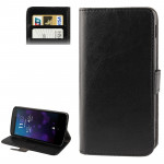 Crazy Horse Texture Leather Case with Credit Card Slot & Holder for Google Nexus 5 (Black)