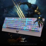AULA Wings of Liberty Series RGB Light Backlit USB Wired Mechanical Axis Gaming Keyboard(White)