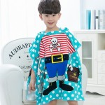 Children Beach Towel Hooded Cloak Kids Boy Girl Baby Bath Towel Absorbent Bathrobe Swim Clothes, Size: 60 x 120cm, Suitable for