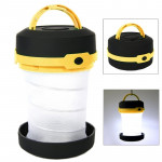 Outdoor Portable Retractable Camping LED Tent Lamp 3-Mode Flashlight Lantern(Yellow)