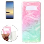 For Samsung Galaxy Note 8 Pink Green Marble Pattern TPU Shockproof Protective Back Cover Case