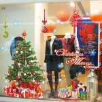 Christmas Stores Showcase Glass Removable Stickers Festival Wall Stickers Decoration, Size: 60 x 90cm