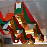 Christmas Wave Flag Tree Decoration Gift Pendant Ornament Supplies with Bell, Length: 2m, Width: 20cm