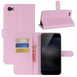 vivo X9s Plus Litchi Texture Horizontal Flip Leather Case with Holder & Card Slots & Wallet (Pink)