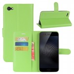 vivo X9s Plus Litchi Texture Horizontal Flip Leather Case with Holder & Card Slots & Wallet (Green)