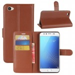 vivo X9s Litchi Texture Horizontal Flip Leather Case with Holder & Card Slots & Wallet (Brown)