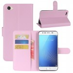 vivo X9s Litchi Texture Horizontal Flip Leather Case with Holder & Card Slots & Wallet (Pink)