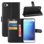 vivo X9s Litchi Texture Horizontal Flip Leather Case with Holder & Card Slots & Wallet (Black)