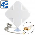 High Quality Indoor 35dBi SMA Male 4G Antenna, Cable Length: 2m, Size: 22cm x 19cm x 2.1cm