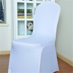 Elastic Chair Cover Weddings Banquet Restaurant Chair Covers(White)