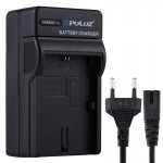 PULUZ EU Plug Battery Charger with Cable for Canon LP-E6 Battery