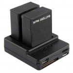 Battery Charger for GoPro Hero 3+ / 3 (AHDBT-301, AHDBT-302)(Black)