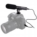 PULUZ Dual Back Electret Condenser Stereo Microphone with 3.5mm Audio Cable for DSLR & DV Camcorder