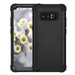 For Samsung Galaxy Note 8 Silicone + PC Dropproof Combination Protective Case(Black)