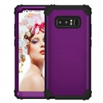 For Samsung Galaxy Note 8 Silicone + PC Dropproof Combination Protective Case (Black + Purple)