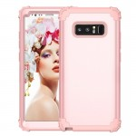 For Samsung Galaxy Note 8 Silicone + PC Dropproof Combination Protective Case(Rose Gold)