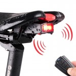 IP65 Waterproof USB Rechargeable Smart COB LED Alarm Bicycle Rear Light Taillight with Remote Control, Control Distance: 1-100m