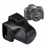 Full Body Camera PU Leather Case Bag with Strap for Canon EOS M5 (Black)