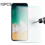 10 PCS ENKAY for iPhone X 0.26mm 9H Hardness 2.5D Curved Tempered Glass Screen Film
