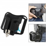 Camera Holster Waist Belt Buckle Button Fast Loading for All Camera(Black)