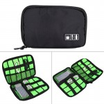 Portable Travel Organizer Storage Collection Bag Case Pouch Digital Gadget Electronic Accessories, Size: 22.6*15.7*3.6cm(Black)