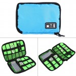 Portable Travel Organizer Storage Collection Bag Case Pouch Digital Gadget Electronic Accessories, Size: 22.6*15.7*3.6cm (Blue)