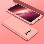 GKK for Samsung Galaxy Note 8 PC Three - paragraph Shield 360 Degrees Full Coverage Protective Case Back Cover(Rose Gold)(Rose G