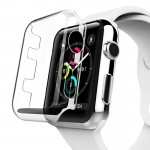 For Apple Watch Series 3 38mm Transparent PC Protective Case