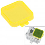 Snap-on Dive Filter Housing for HD GoPro Hero 4 / 3+, ST-132(Yellow)